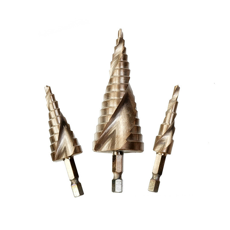Steel Drill Bit Set Cone Triangle Shank HSS Cobalt Step Metal Wood Working