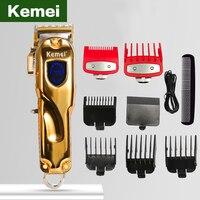 Tagliacapelli Kemei per tagliacapelli per uomo cordless hair cutter barbiere professionale ricaricabile cordless display LCD trimmer per barba