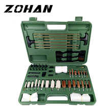 цены 62Pcs Gun Cleaning Tool Kit tools set Rifle Handgun Shotgun F irearm Cleaner Pistol Pipe Mop Brush Accessory rod with Carry Case
