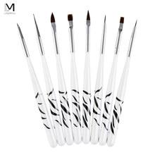 Ручка LadyMisty для рисования ногтей 8 шт., акриловая кисть для нейл-арта, уф-гель, маникюрные щетки, бриллиантовый набор, инструменты для гелевых ...