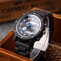 Shifenmei деревянные часы для мужчин бизнес Кварцевые часы мужской двойной дисплей часы Топ люксовый бренд деревянные наручные часы Relogio Masculino