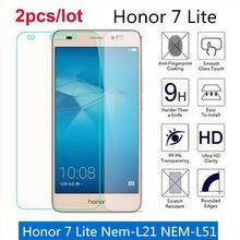 Vidro temperado Para Huawei Honor 7 Lite 2.5D Premium Filme Protetor de Tela Em Honra 7 Lite Nem-L21 NEM-L51