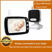 """MBOSS 3.5 """"LCD écran numérique vidéo bébé moniteur 2 voies parler sécurité sans fil bébé caméra Vision nocturne électronique Babysitter"""