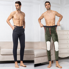 Для женщин и мужчин размера плюс с толстым кашемиром теплые леггинсы осень зима мода размера плюс для среднего возраста и пожилых верблюжий брюки