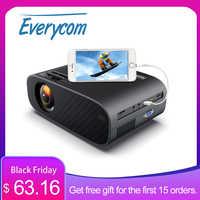 Everycom-proyector de vídeo LED M7 para cine en casa, dispositivo portátil, HD, 720P, HDMI opcional, Android, wi-fi, compatible con Full HD 1080P