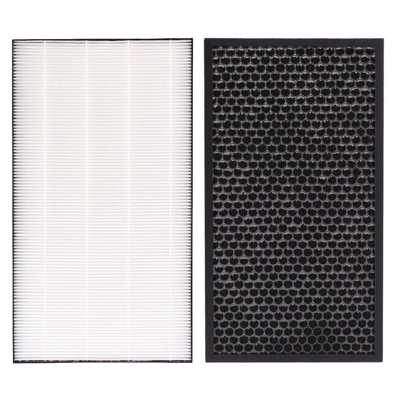 Air Purifier Replacement Deodorizing Filter FZ-D50DF (1 Piece) And Dust Collecting Filter HEPA Filter FZ-D50HF (1 Piece) Compati