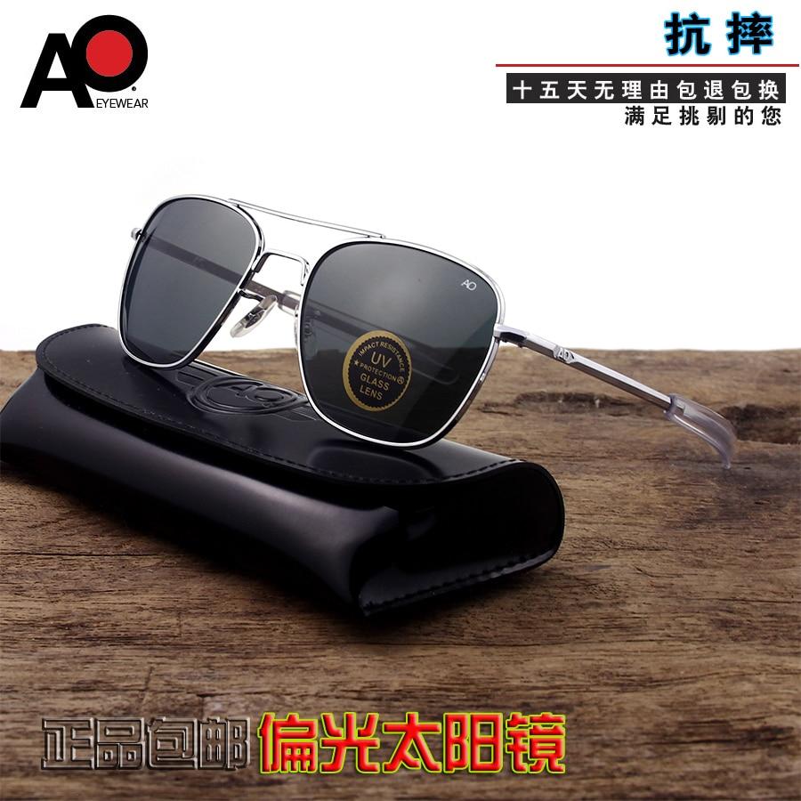 sunglasses men 2020 rectangle American Army Military Optical AO 8052 sunglasses pilot driving glass oculos de sol masculino|Men