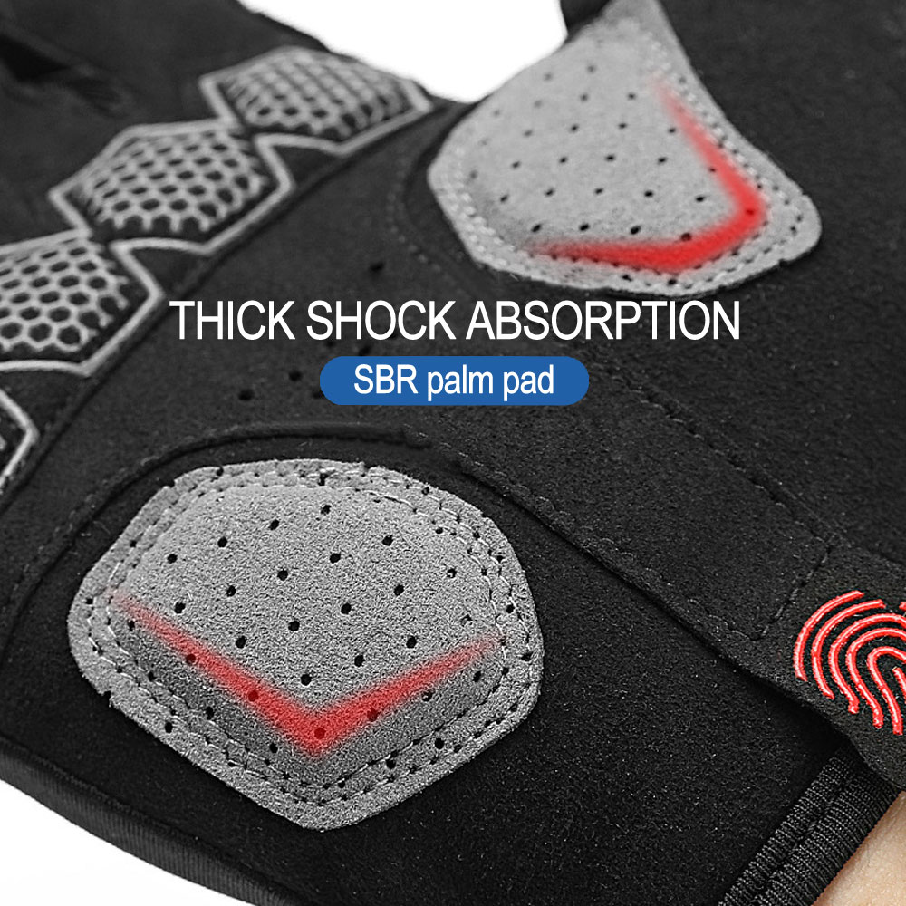 NEWBOLER Pro Unisex Cycling Gloves Road Bike Riding MTB DH Racing Outdoor Mittens Shockproof Non-slip Bicycle Half Finger Gloves