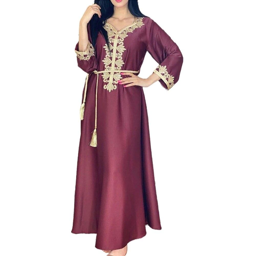 Eid Abaya Dubai Turkey Muslim Dress Islam European African Dresses Abayas For Women Robe Arabic Longue