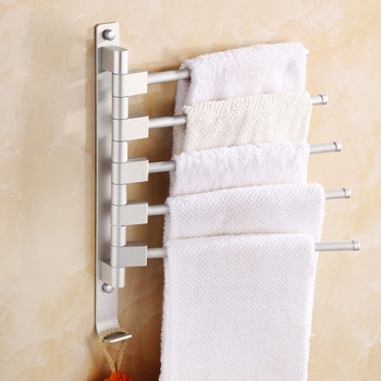 Przestrzeń Aluminium wieszak na ręczniki wieszak na ręczniki 5 4 3 2 wieszak na ręcznik z haki łazienka wieszak na ręczniki wieszak na ręczniki ruchome wieszak na ręczniki łazienka produkty tanie i dobre opinie Typ ścienny Pa + pe