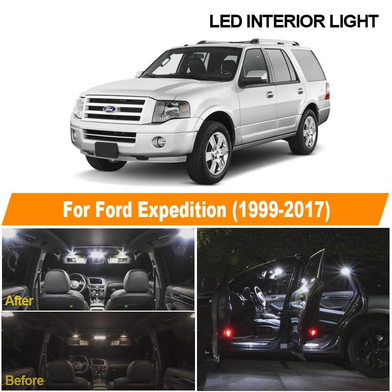 Светодиодный светильник для чтения для Ford Expedition, белый купольный светильник для чтения автомобилей, комплект для Ford Expedition