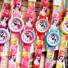 2019 new pony print silicone band kids watch girl cute carto