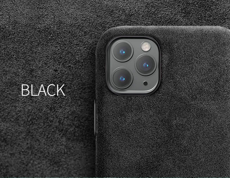 Hef7db5285f3241e1be3f91de4a85dce3o SanCore for iPhone 11 pro Max Phone Case ALCANTARA fashion Leather Full-protection Business Luxury Phone Shell Suede cover man