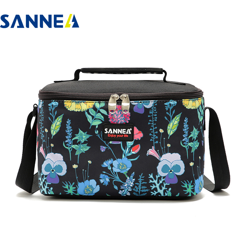 SANNE New style 4L Lunch Bag Thermal Oxford Cloth Waterproof Lunch Box Children's Cartoon Bento Insulation Bag Picnic Outdoor