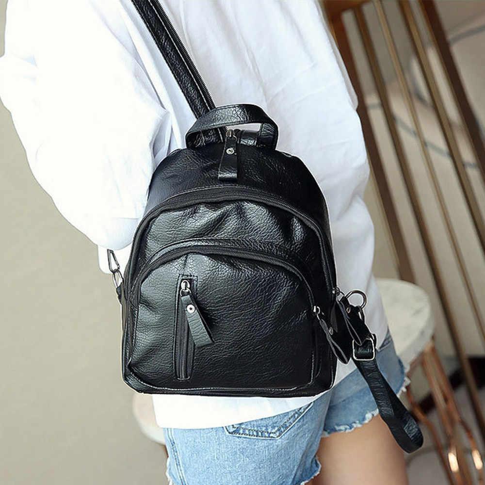Wanita Gadis Multifungsi Bahu Bookbag Tas Sekolah Lucu Fashion Ransel
