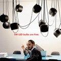 Luzes pingente de aranha moderna tambor lamparas de techo colgante jantar restaurante café industrial suspensão lâmpadas penduradas personalizado
