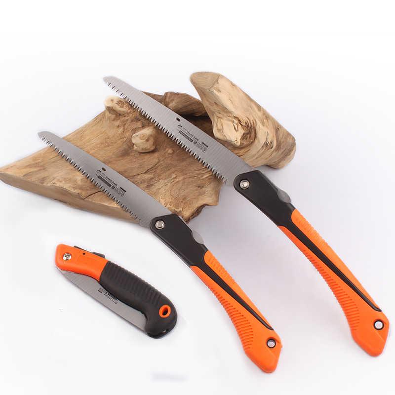 منشار يدوي قابل للطي TPR مقبض شجرة صغيرة تشذيب التخييم الصيد الاستخدام اليومي لطي الصلبة قبضة الخشب أدوات الحلل