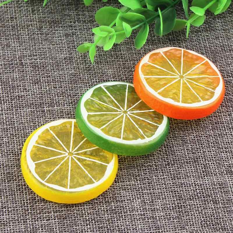 10pcs Simulation Lemon Slices Lifelike Photo Props Artificial Fruit DIY Ornaments Supplies For Home Shop