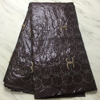 Guinea brocade fabric african bazin brode high quality lace 2019 latest bazin riche getzner with beads and stones for men