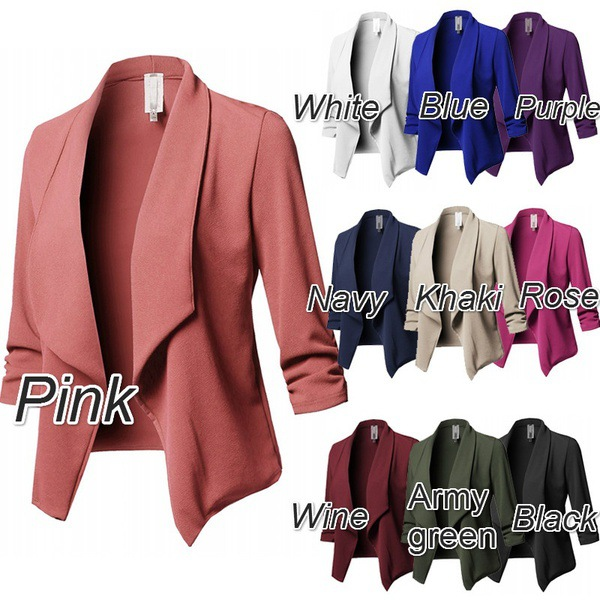 Oversized Blazer Women Blazer Mujer Elegante Ladies Mujer Office White Black Blue Green Pink Purple Plus Size Veste Blazer Femme