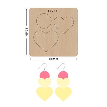 SMVAUON notatnik Die Cut Collage Heart Circle DIY handmade nowe matryce do 2020 drewniany szablon do wycinania formy do wykrawania drewna tanie i dobre opinie Koło Serce Leather Tools