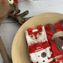 ARMKIN 4 Pair Women socks Casual winter Christmas Socks Davids deer Cotton Cartoon Keep Warm lady Gift