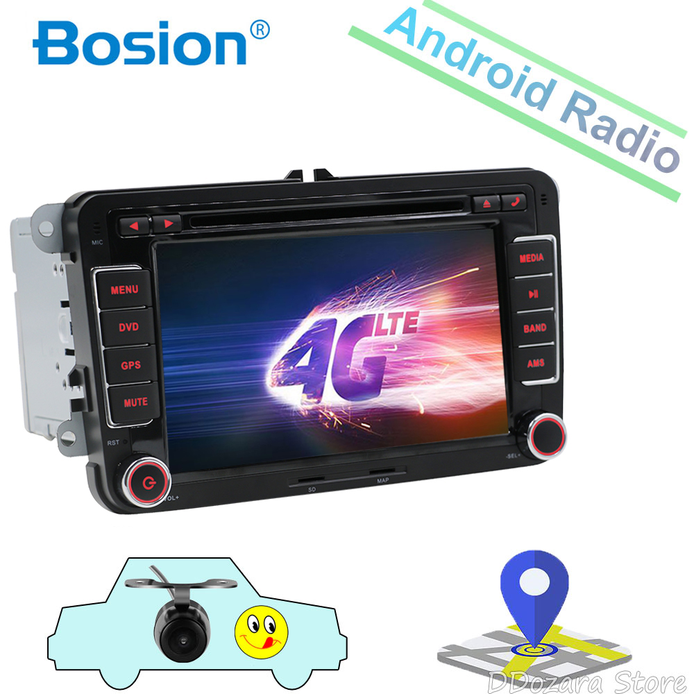 2 din Android 9.0 Radio samochodowe DVD nawigacja GPS dla Volkswagen Caddy Golf Polo Sedan Touran Passat EOS 3G + DVD automotivo