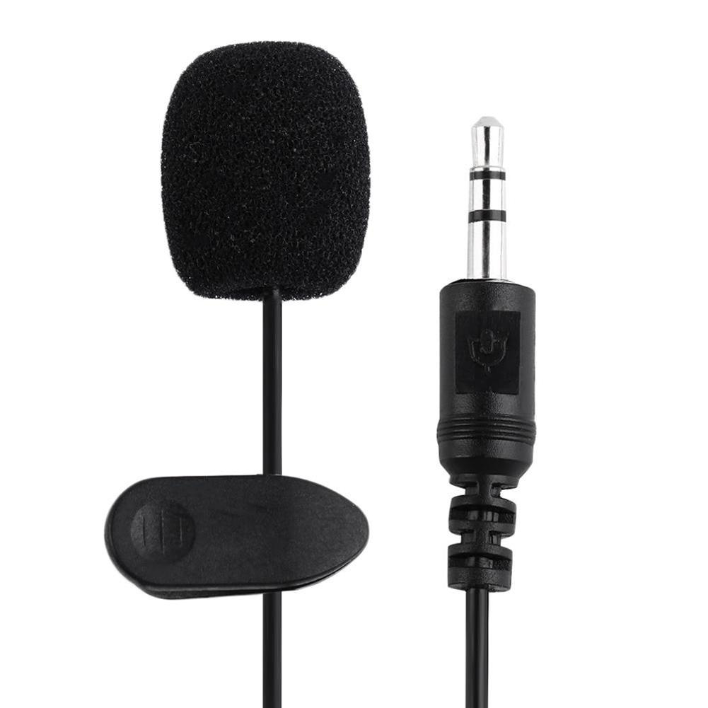 3.5mm PC / Phone / Camera Mini Microphone Lapel Lavalier Mic Portable External Buttonhole Microphones For IPhone Laptop Computer
