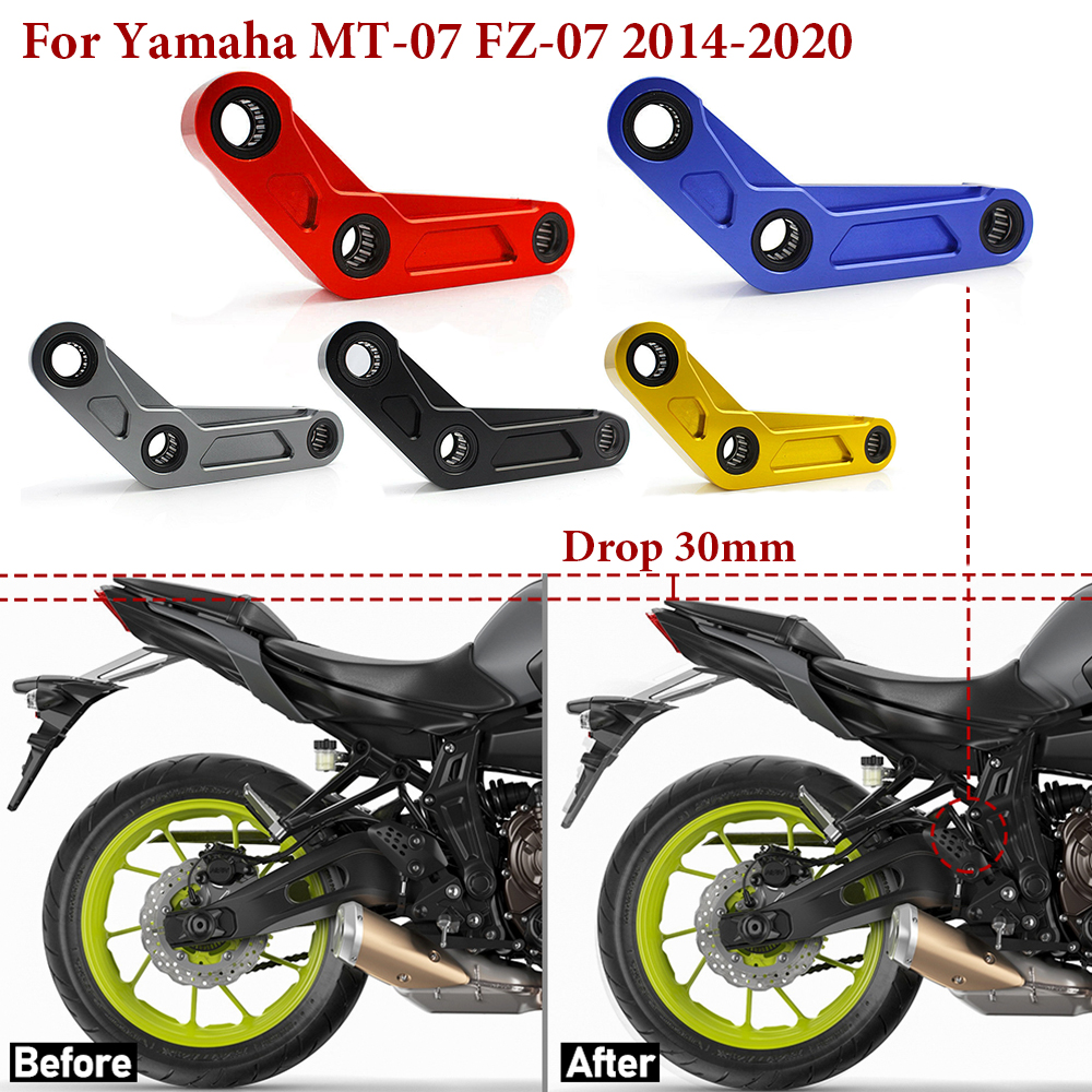 MT07 Lowering Links Kit For <font><b>YAMAHA</b></font> <font><b>MT</b></font>-<font><b>07</b></font> FZ-<font><b>07</b></font> <font><b>MT</b></font> <font><b>07</b></font> <font><b>Tracer</b></font> 700 XSR700 FZ07 2014-2020 Motorcycle Rear Suspension Connecting Moto image