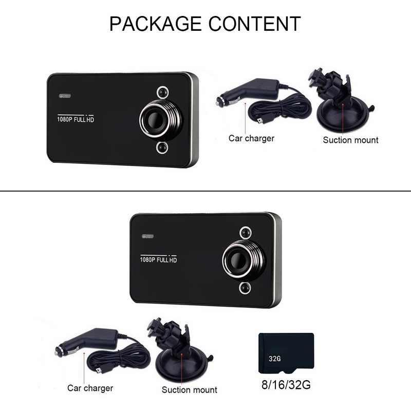 Cámara de coche de 2,6 pulgadas Dashboard Dash Cam FULL 1080P pantalla 170 grados Super gran angular cámaras grabadora DVR Cámara grabadora de vídeo