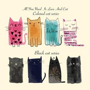 Портативные термопереводные наклейки A-level, 1 шт., аксессуары для одежды, милый моющийся принт с изображением кота на одежде