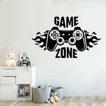 Lovely Game Zone Wall Stickers Vinyl Wall Art Decal For Kids Room Sticker Decals Mural Game Room Wallpaper Stickers vinilo pared new tom cat jerry mouse wall art decal pvc material stickers wall decals for kids room vinyl wall sticker mural wallpaper