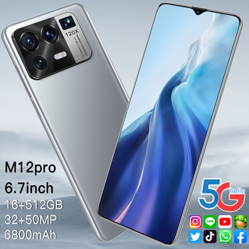 Xiao M12 Pro Global Version Qualcomm 888 16GB 512GB6800mAh 5G 6.7 Inch Mobile Phone 10 Core Cellphone 4G LTE Smartphone Network 2