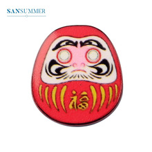 Sansummer Cute Oval Red Tumbler Chinese Style Facebook Personality Pin Exquisite Stereo Brooch For Women Jewelry