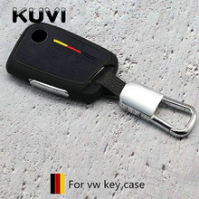 2019 Suede TPU Key Cover Case For Skoda Superb A7 Volkwagen Passat B8 VW Golf Gte Car Shell Styling Protection keychain