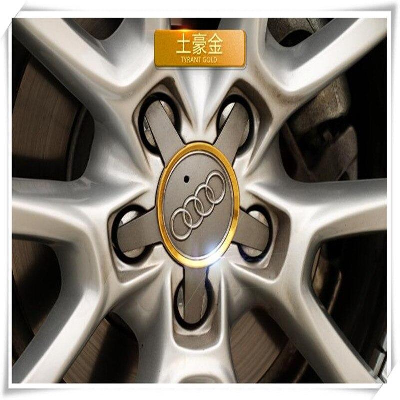 Hot Car Styling Aluminum Alloy Wheel Hub Decorative Circle For Audi S5 8T 9T S6 C7 S7 4G S8 D4 TT TTS RS 8S 8J A3 8V A4 B9 B8(China)