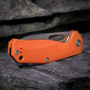 Image 5 - Kizer Survival bıçaklar kamp açık bıçak bırak noktası Blade, turuncu G10 kolu V4461N2 Kesmec