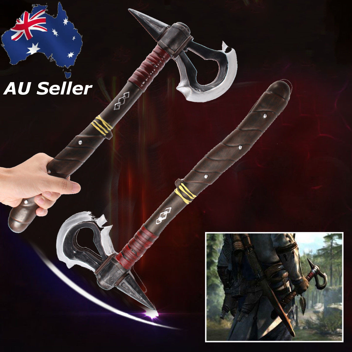 Cosplay Weaponss 1 1 Tomahawks Axe Video Game Cosplay Collectible