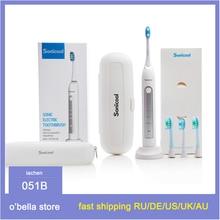 فرشاة الأسنان الكهربائية Sonicool 051B USB قابلة للشحن بالموجات فوق الصوتية 48000 RPM فرش الأسنان مع 4 قطعة فرشاة دوبونت