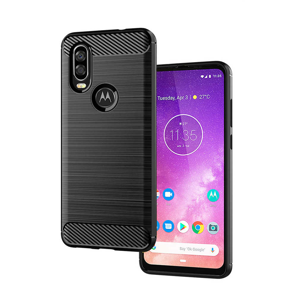 頑丈なシールドソフト鎧 Motorola Moto One G5 G5s G6 G7 Plus E5 E6 Play 弾力性のある TPU ゲル耐衝撃保護カバー