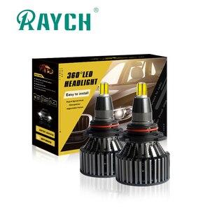 H27 carro-condução-lâmpada Automotiva h1 h3 H8 H9 H11 HB3 Led HB4 9004 9007 hb3 6000K H7 H13 H4 3D Canbus Faróis Do Carro de 360 graus