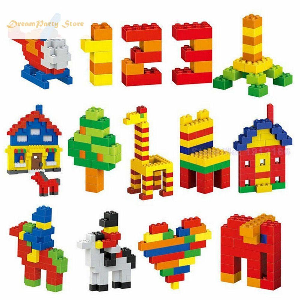<font><b>1000</b></font> <font><b>PCS</b></font> Colorful Building Blocks Bricks Kids Creative <font><b>Legoings</b></font> Block Toys Figures for Children Girls Birthday Christmas Gift image