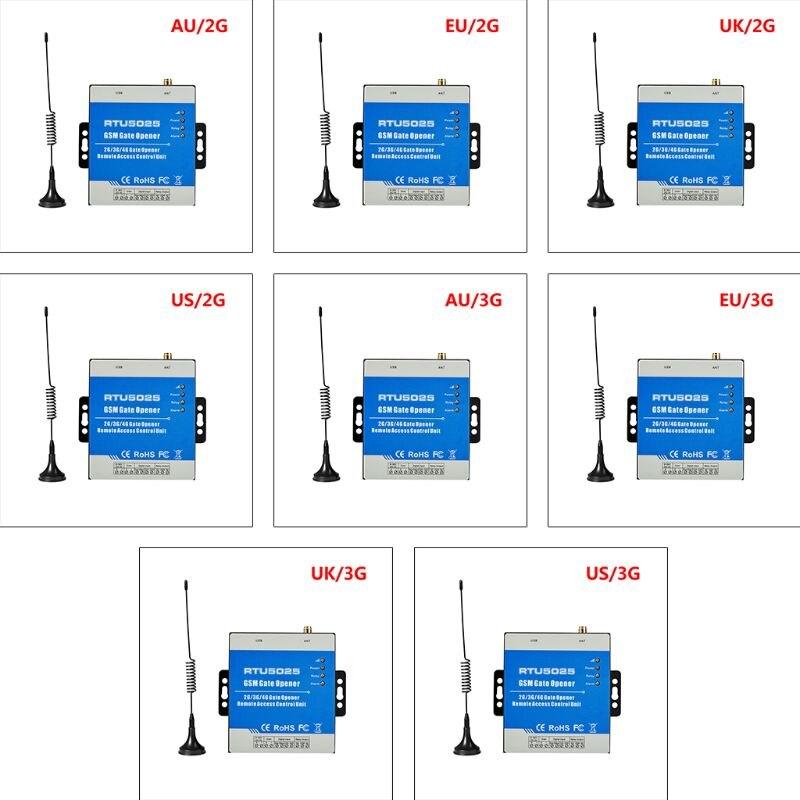 1 Juego de interruptor de relé GSM RTU5025 inalámbrico, Control remoto, Control de acceso, 2/3G