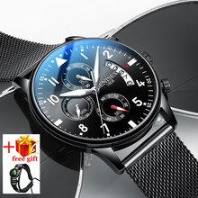Chronograph Watch Men Waterproof Stainless steel Men's Wrist