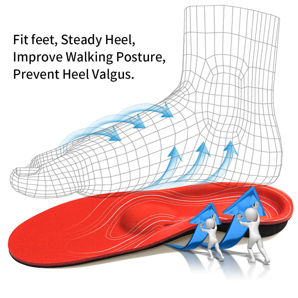 3ANGNI Orthotic Arch Support Shoe insole Severe Flat feet Inserts Pad Orthopedic Insoles Heel Plantar Fasciitis Men Woman