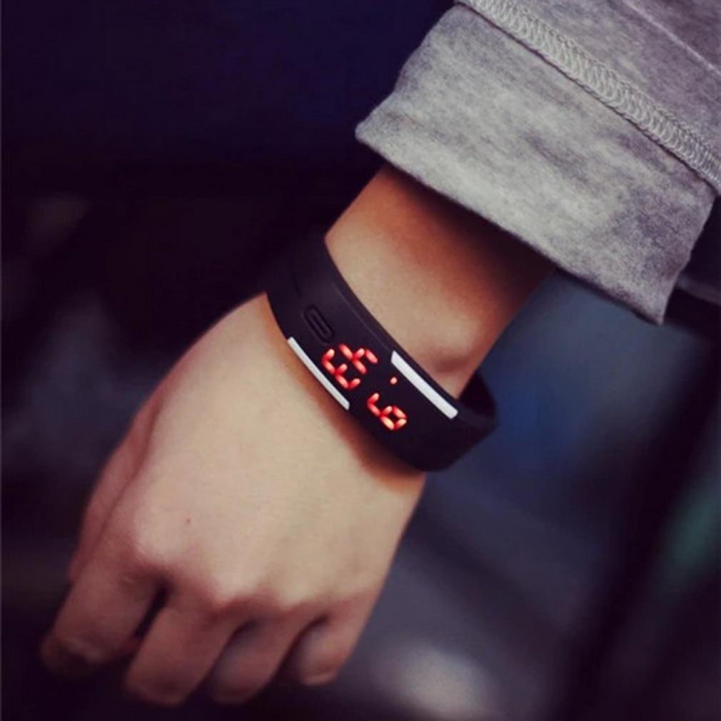 LED Electronic Sports Luminous Sensor Watches Fashion Men And Women Watches Man Woman Casual Watch Clock Digital Lovers' Watch
