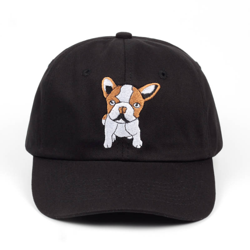 2019 New Hip Hop Baseball Cap Dog Embroidery Back Bone Caps Dad Hat Ladies Men's Summer Sun Shade Breathable Hats