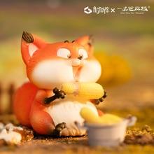Fox Doll eats all over the world Sesame Series Trendy Christmas Gift Desktop Decoration Kawaii Toy Blind Random Box