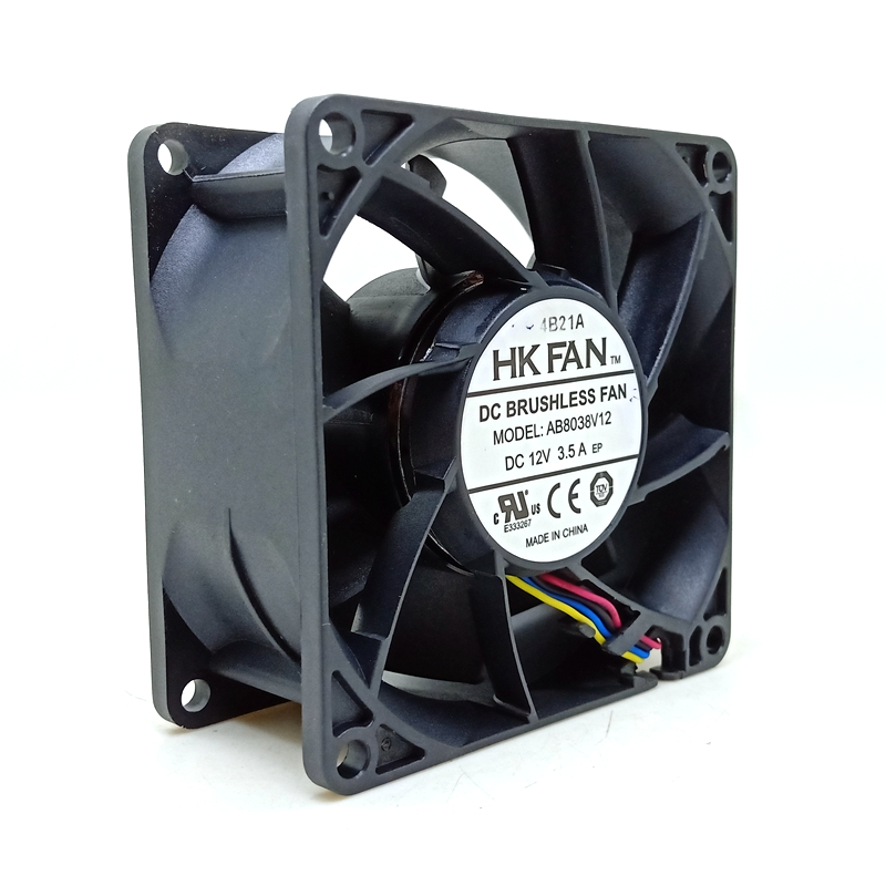 80mm Cooling Fan New 8038 Fan AB8038V12 80*80*38mm DC 12V 8cm 4-wire 3.5A Super Powerful Violent Cooling Fan