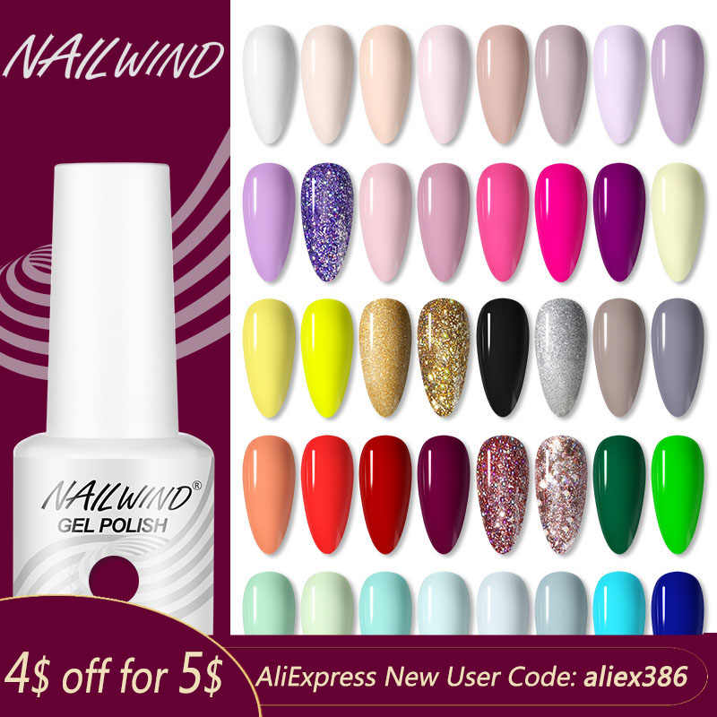 Nailwind Gel Nagellak Alle Voor Manicure Art Semi Permanente Vernis Top Coat Nodig Uv/Led Gel Varnish Soak off Nagellak